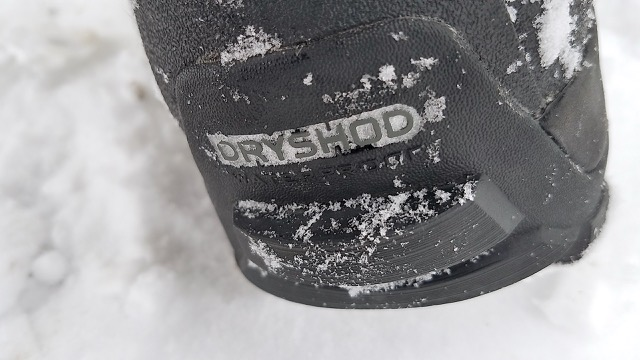 Snow Cover on Dryshod Boots