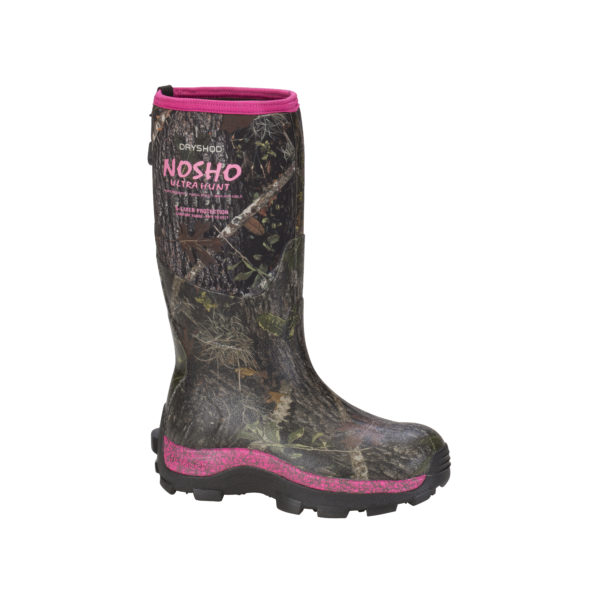 Dryshod NOSHO Ultra Hunt Camo Pink Neoprene Waterproof Boot
