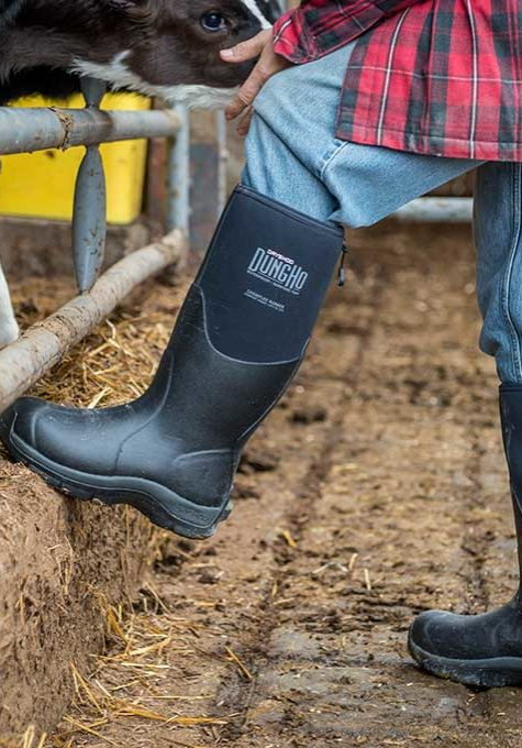 Dryshod DungHo Boot in Use on Farm